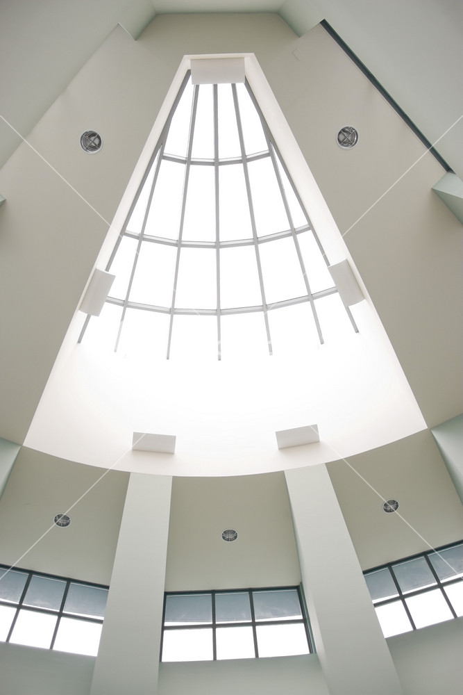 A Modern Architectural Interior With A Triangular Shaped Skylight Royalty Free Stock Image Storyblocks