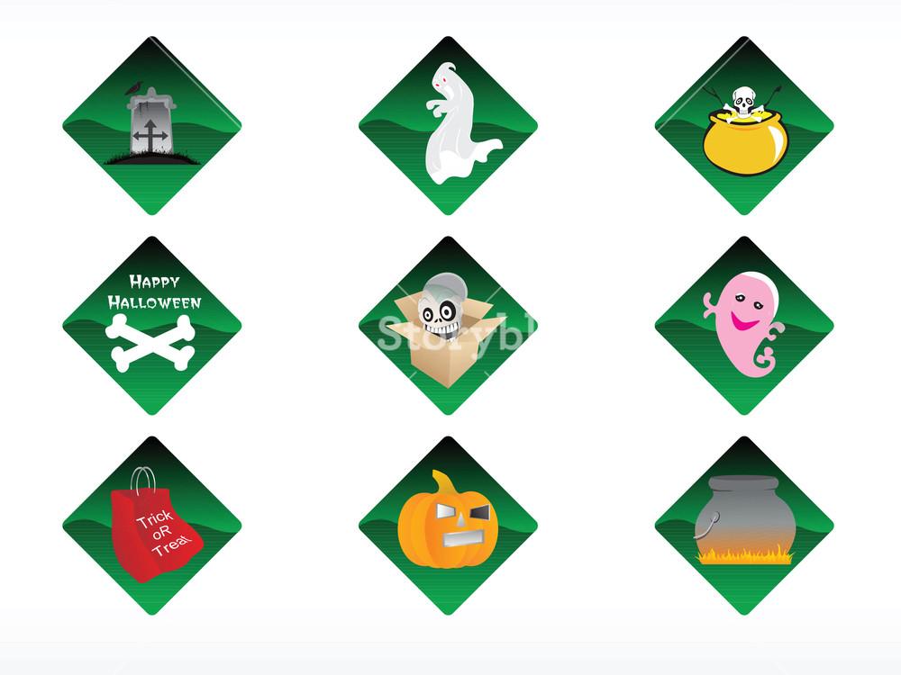 Abstract Halloween Sticker Series Set33