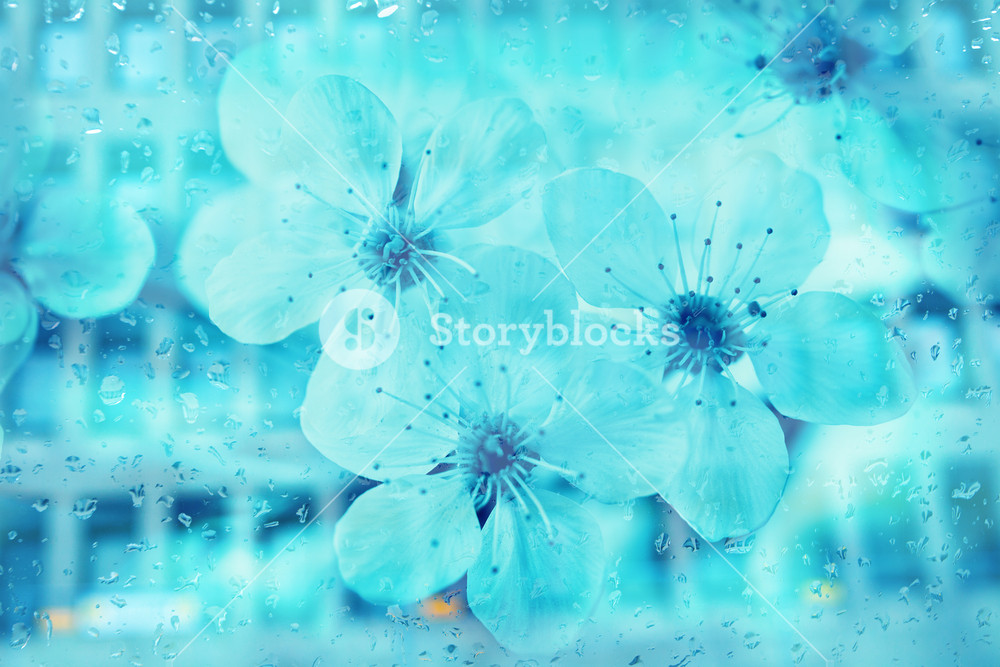 Abstract hi tech flower background