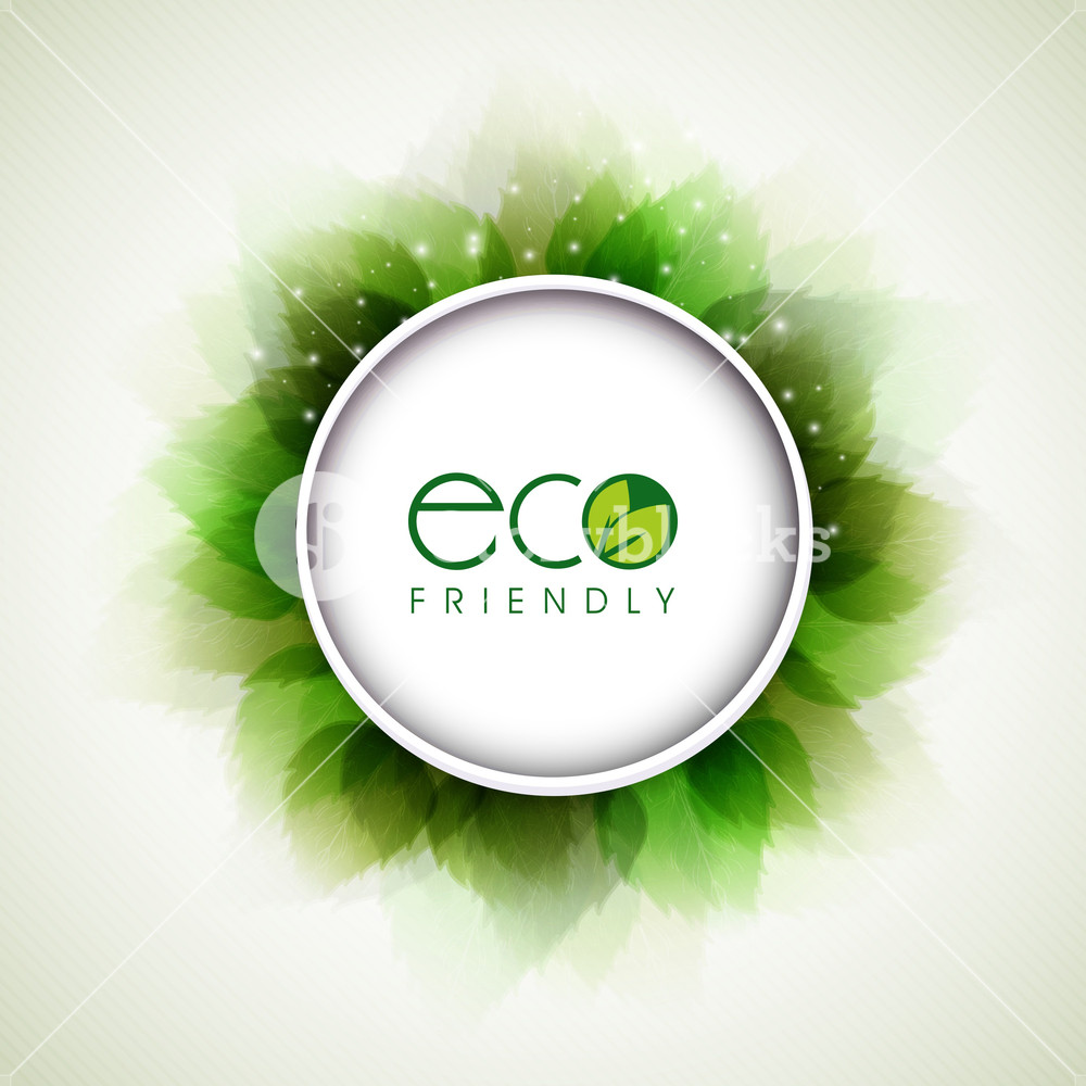 Abstract Nature Background With Fresh Eco Green Leaves