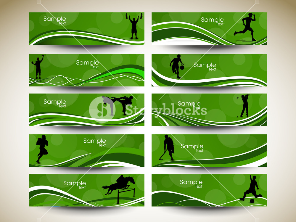 Abstract Sports Banner.