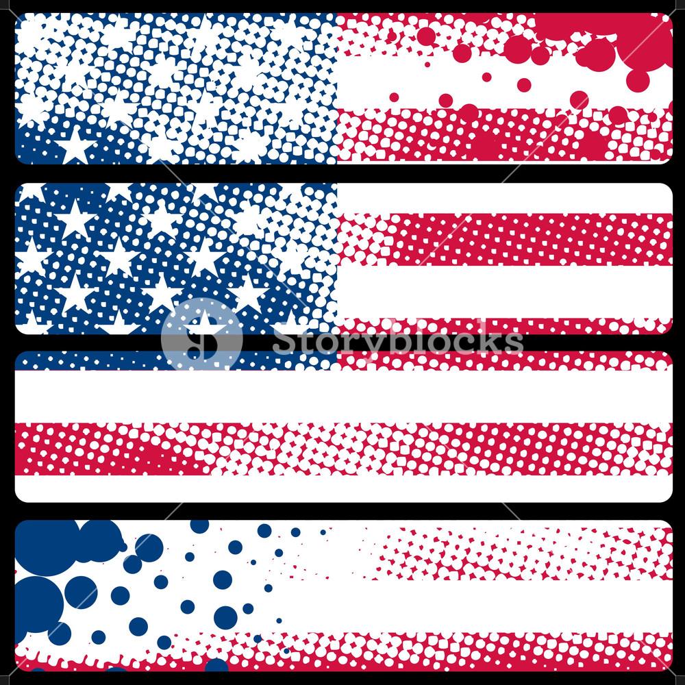 Abstract Usa Flag Banners