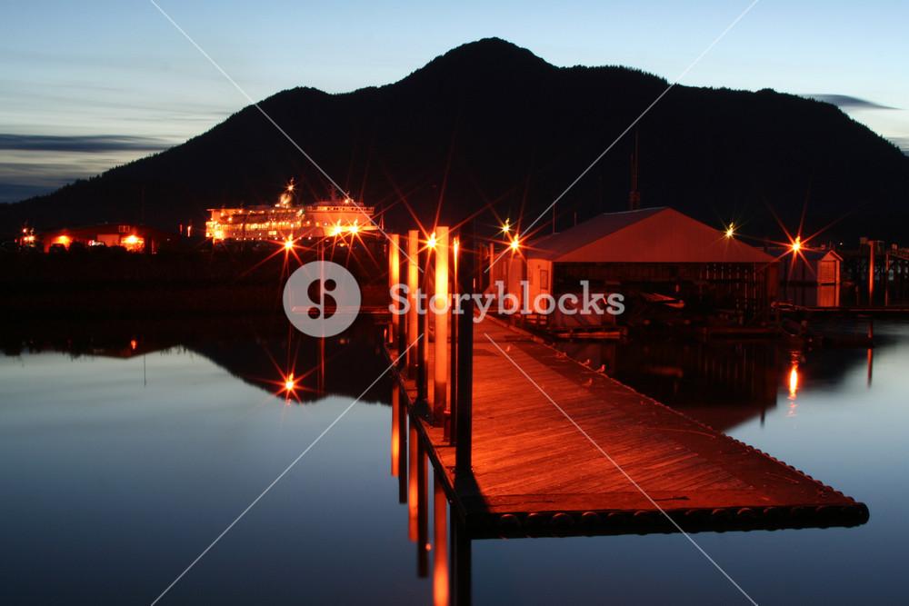 Alaskan Evening At The Harbor