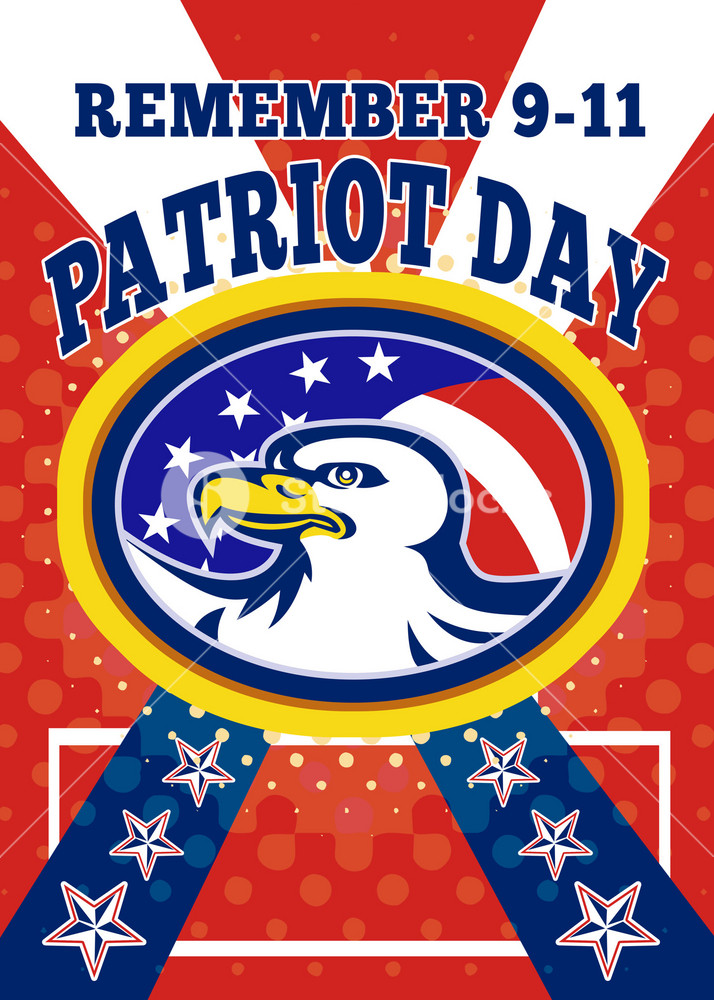 American Eagle Patriot Day 911  Poster Greeting Card