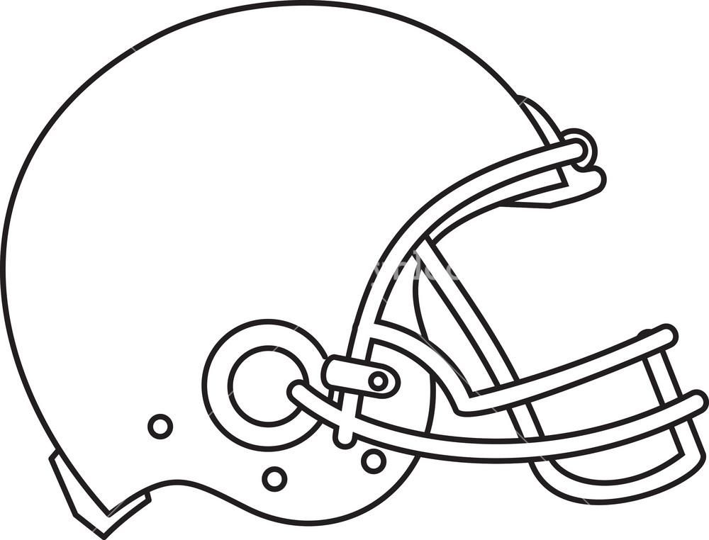 American Football Helmet Line Drawing