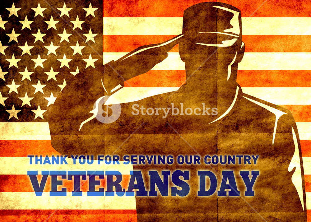 American Patriot Veterans Day Poster Greeting Card