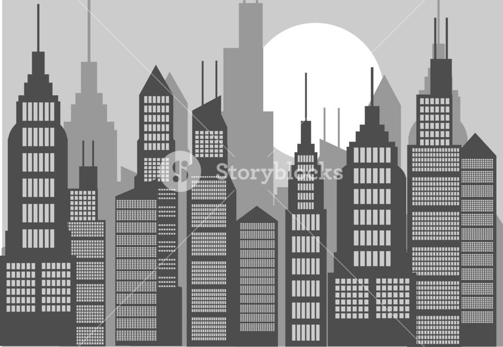 American Skyline Vector
