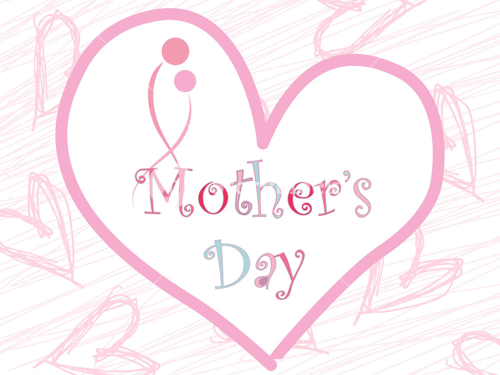 Artistic Pattern Mother Day Background