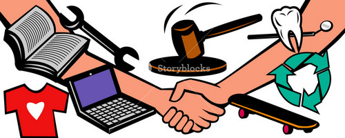 Auction Items Handshake Deal Swap Exchange