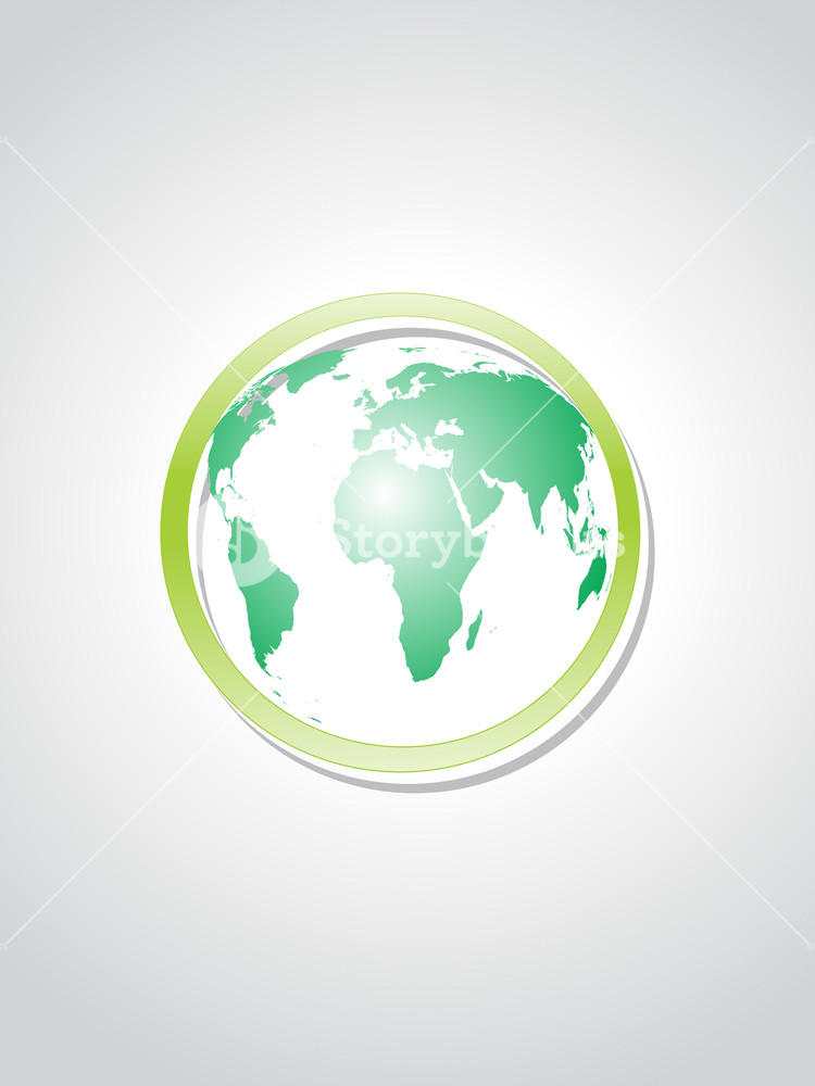 Background With Green Object