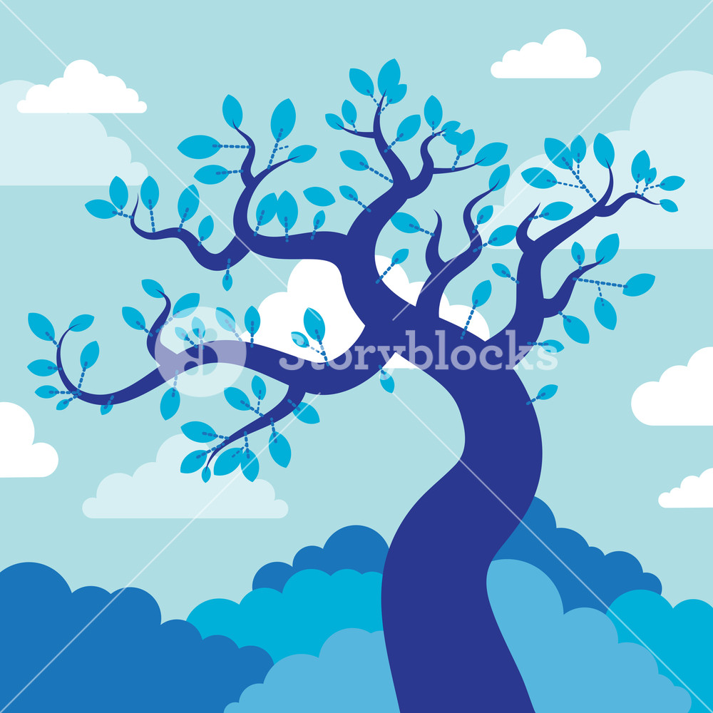 Beautiful Blue Tree