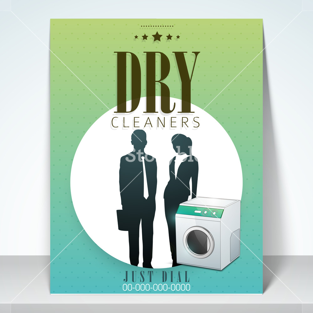 Beautiful stylish brochure flyer or template design for dry cleaners.
