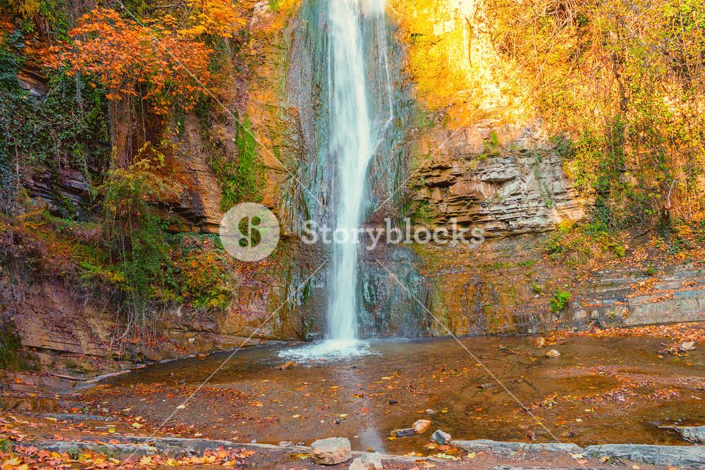 Beautiful waterfall in Georgia