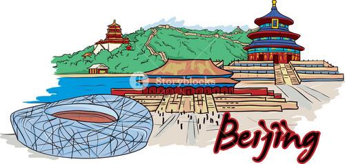 Beijing Vector Doodle