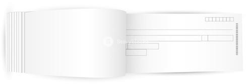 Blank Cheque Book Vector