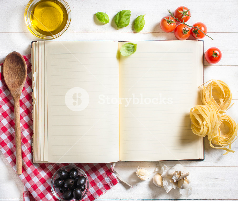 Blank Recipe Book With Ingredients