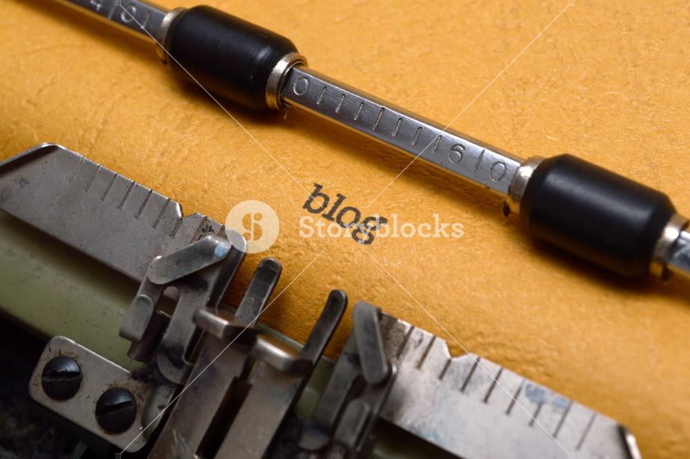 Blog Text On Typewriter