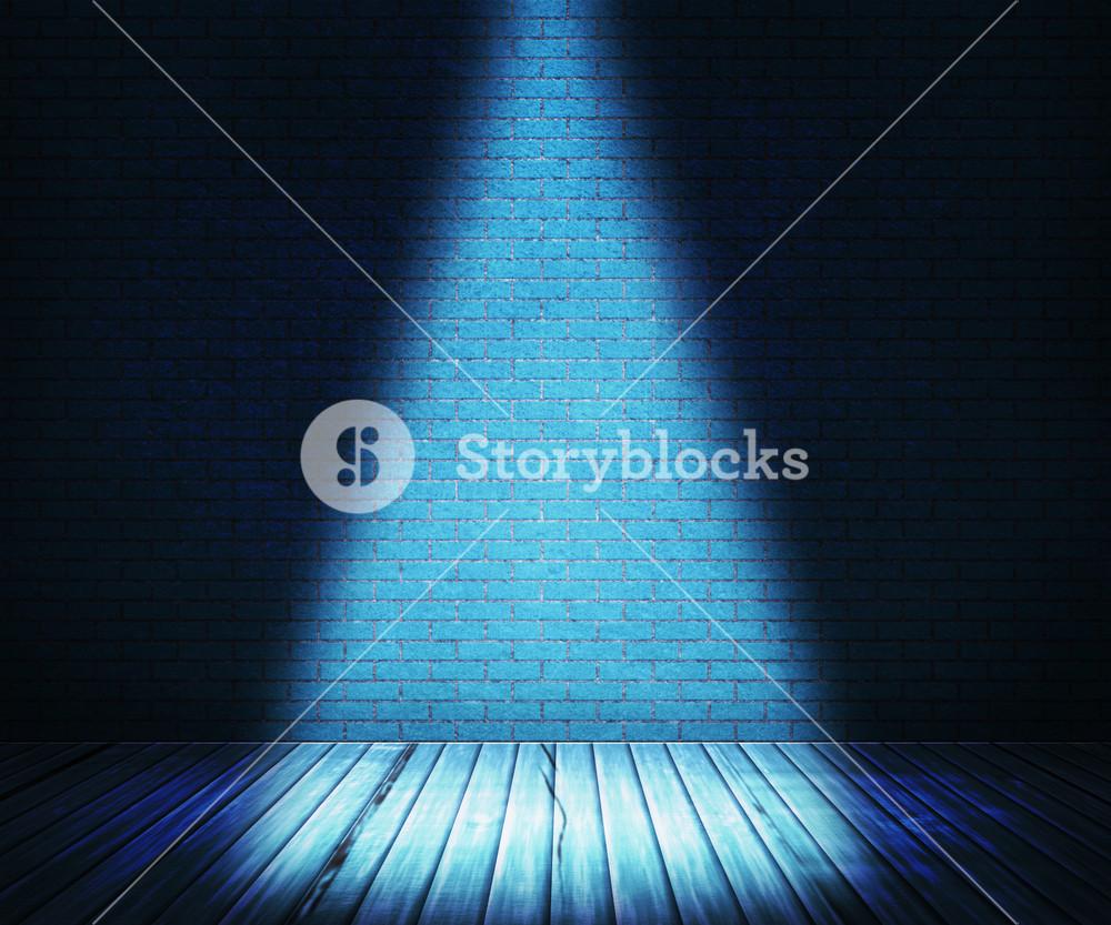 Blue Interior Spotlight Backdrop