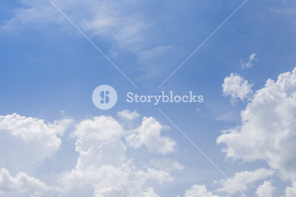 Blue Sky Background With White Cloud Royalty Free Stock Image Storyblocks