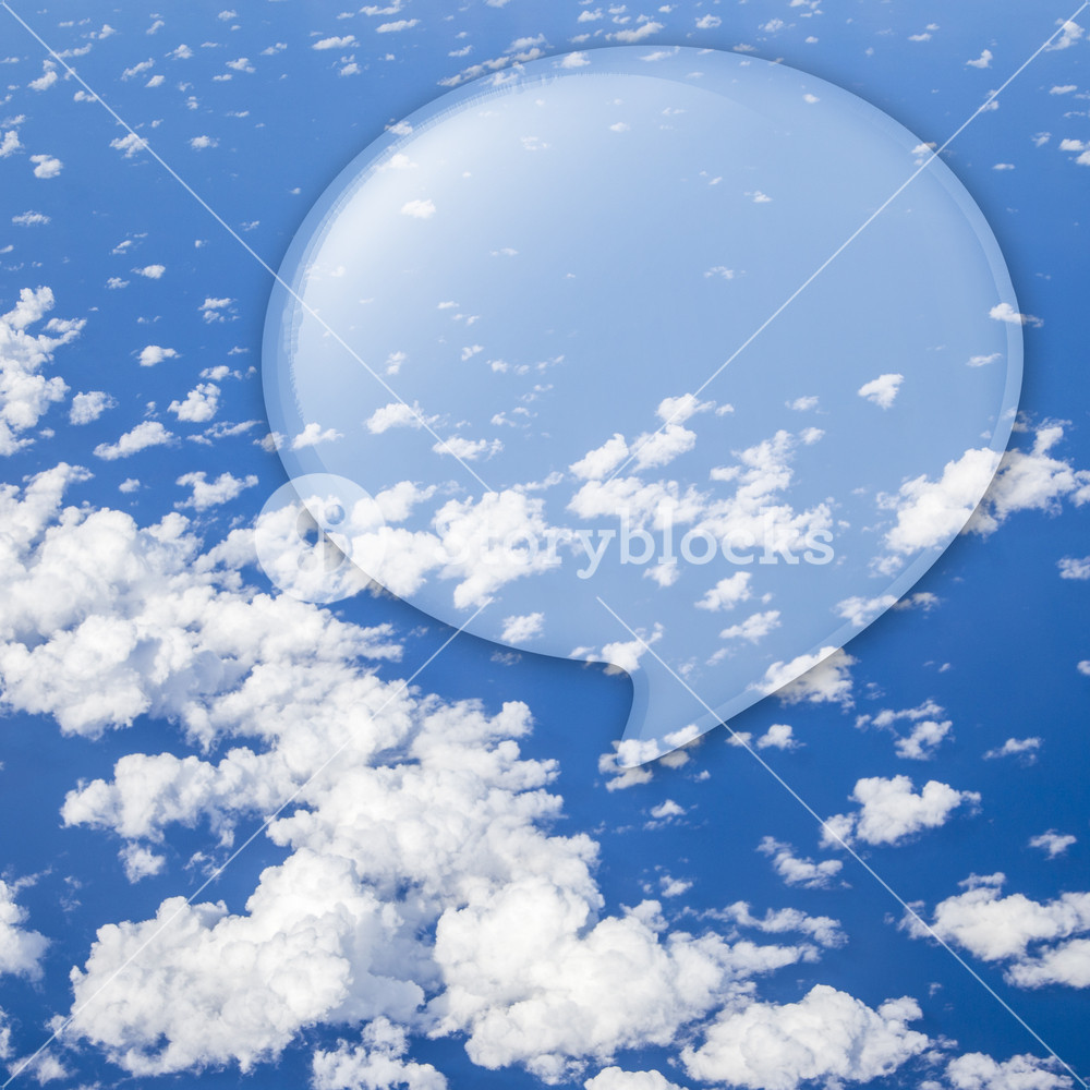 Buble quote speech on cloud space for text