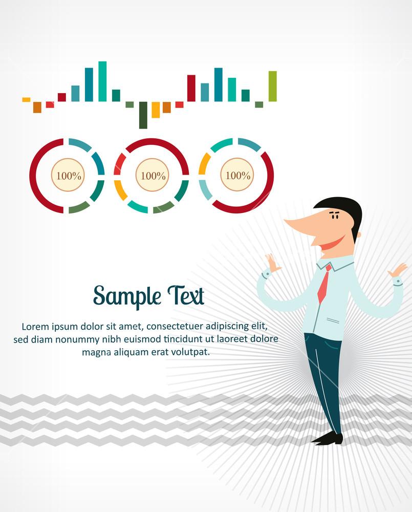 Businessman Infographic Charts (editable Text)