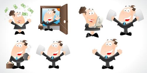 Businessmen Characters Vectors