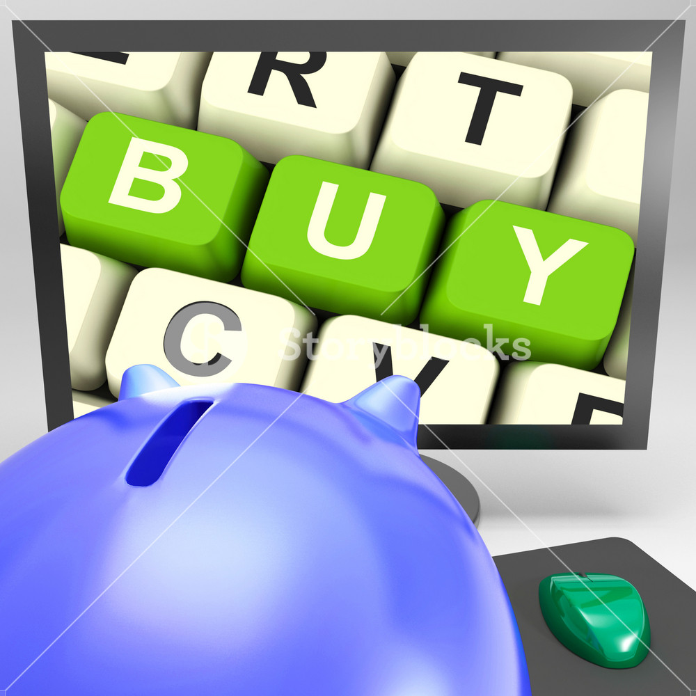 Buy Key On Monitor Showing Online Commerce