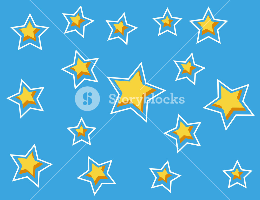 Cartoon Background - Star Pattern
