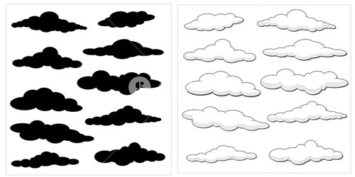 Cartoon Clouds Vector Set