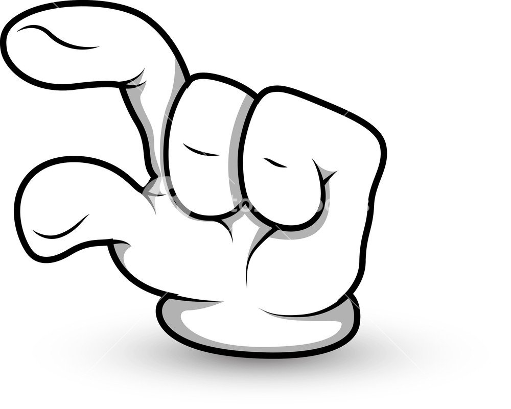 Cartoon Hand - Finger Pointing - Vector Illustration