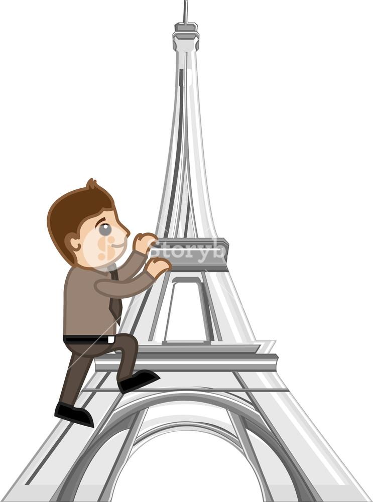 Netter Storch Fliegen Am Himmel Von Paris über Eiffelturm Tragen Eines  Neugeborenen Babys Für Die Lieferung Lizenzfrei Nutzbare Vektorgrafiken, Clip  Arts, Illustrationen. Image 9668030.