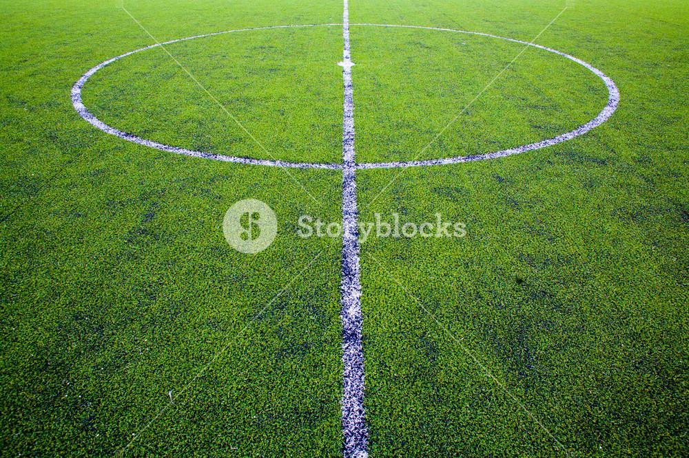 Center of football or soccer field