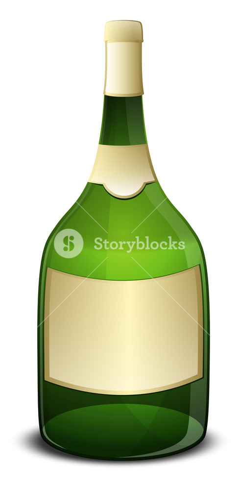 Champaign Bottle Vector Object