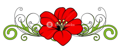 Christmas Flower Divider Vector