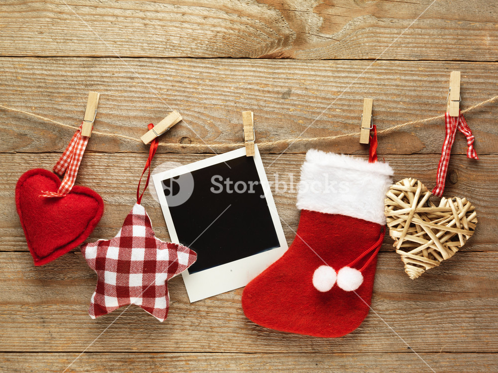 Christmas polaroid