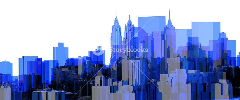 City Blue Xray Transparent