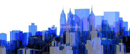 City Blue Xray Transparent