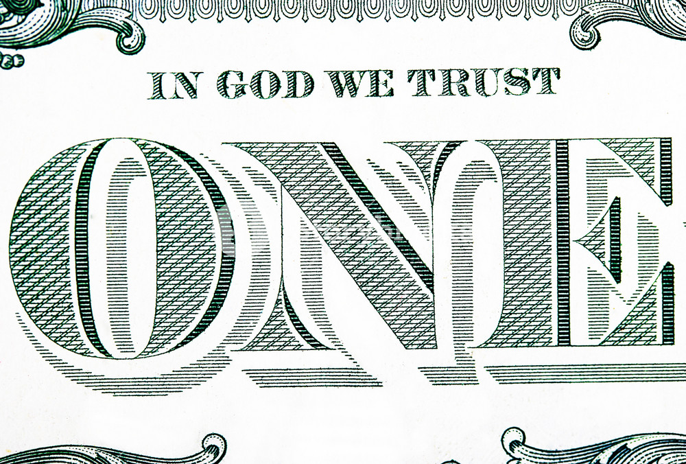 Close Up Of A One Dollar Bill