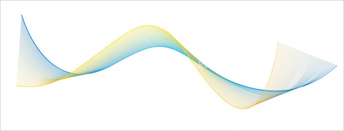 Colored Wave Lines
