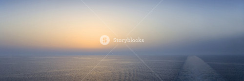 Colorful sunset over the vast ocean