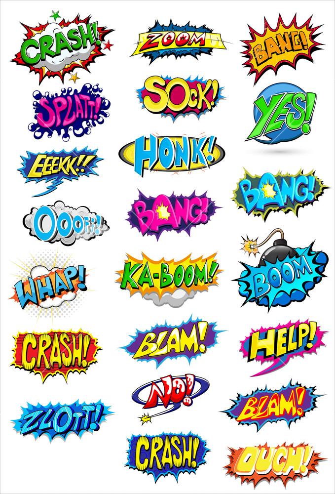 Comic Expressions Vectors