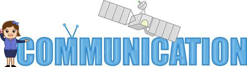Communication And Mobile Header - Vector Illustration