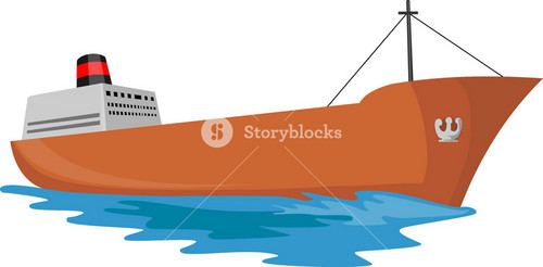 Container Ship Cargo Boat Retro