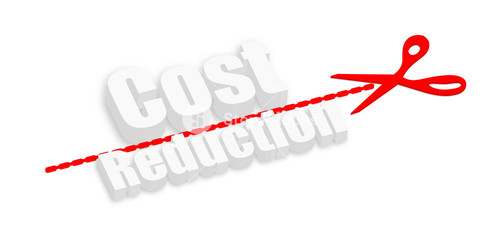 Cost Reduction 3d Text