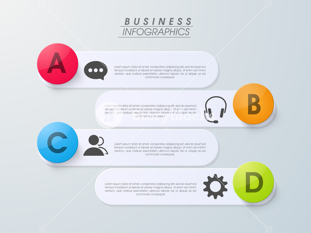 Creative business infographics layouts with different icons