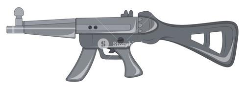 Creative Machine Gun Vector Object