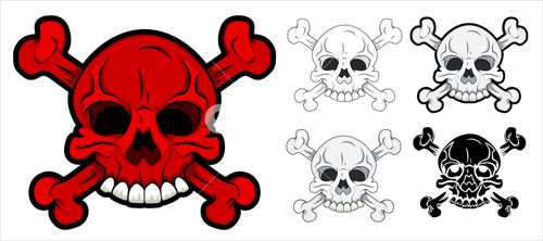 Danger Sign - Skull Vector Set