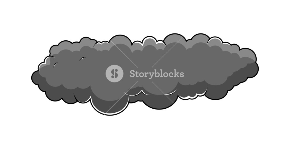 Dark Comic Cloud Vector