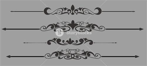 Decorative Floral Dividers