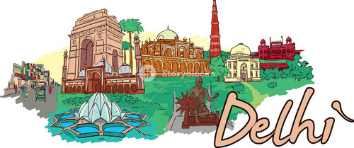 Delhi Vector Doodle